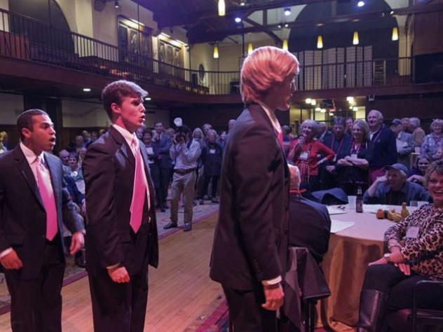 Reunioners enjoy an undergraduate choral concert