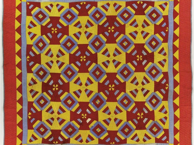 "A ""Roman square"" pattern, circa 1930-50, possibly from Vermont"