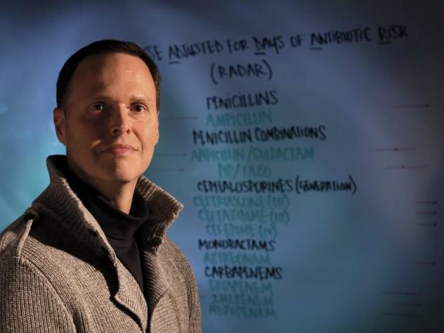 Scott Evans designs clinical trials that test the efficacy of rapid diagnostics.