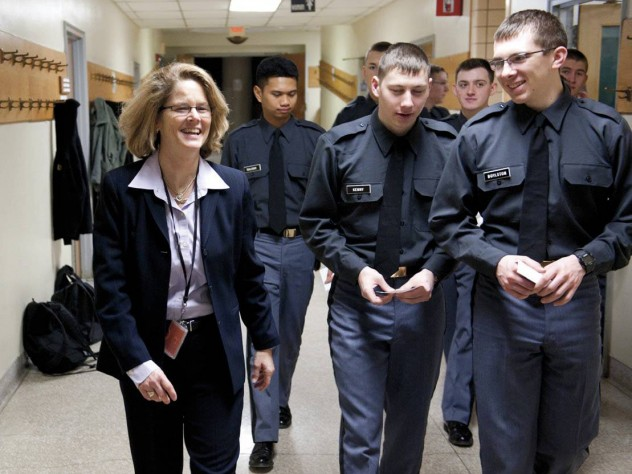 Having walked the same halls and marched on the same greens as a West Point cadet, Young knows the demands on her students, especially on women in a male-dominated culture.
