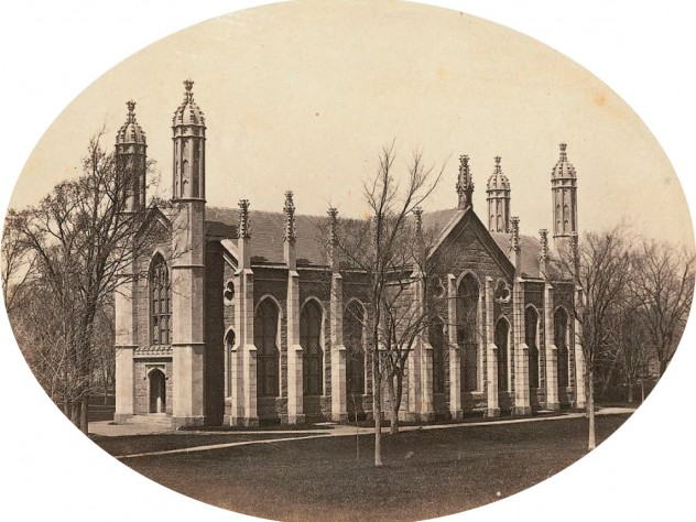 Gore Hall, the new library built in 1844