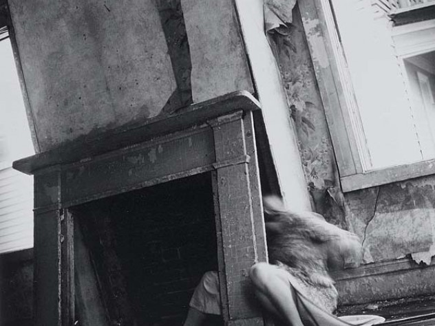 Francesca Woodman's haunting House #4, from the series Abandoned House #1 (1976)