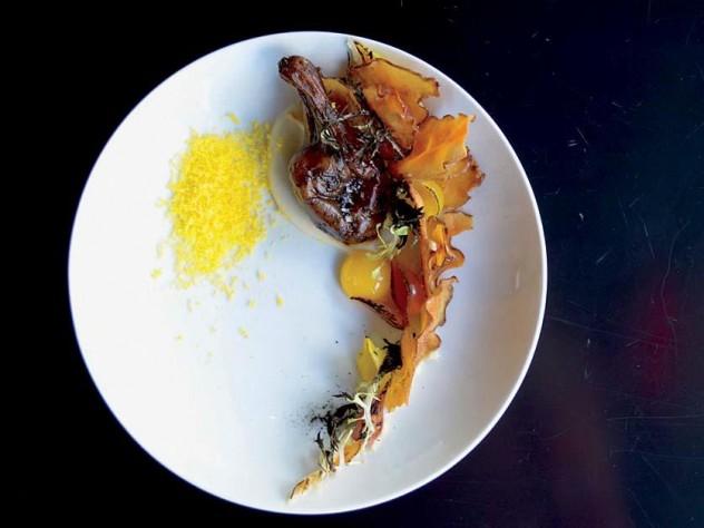 The cheerful sunchoke dish at Study