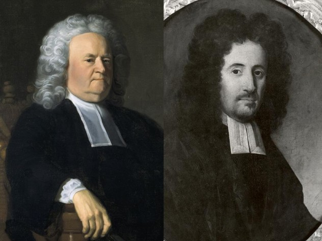 In the eighteenth century, Harvard presidents Edward Holyoke (left) and Benjamin Wadsworth both owned slaves.
