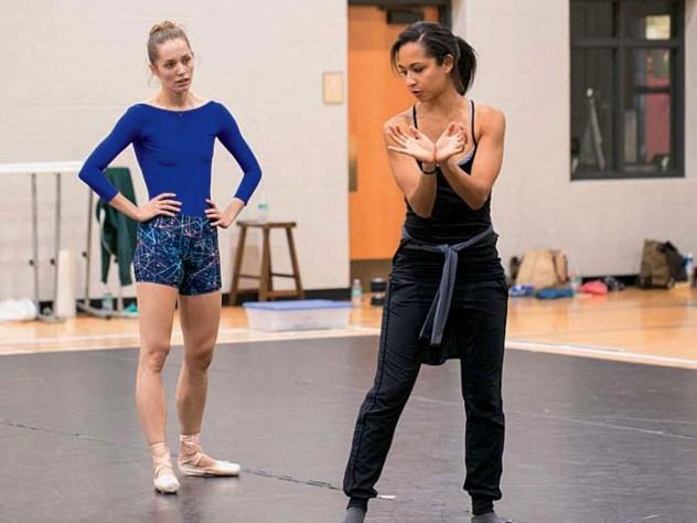 Schreier and Phelan in rehearsal