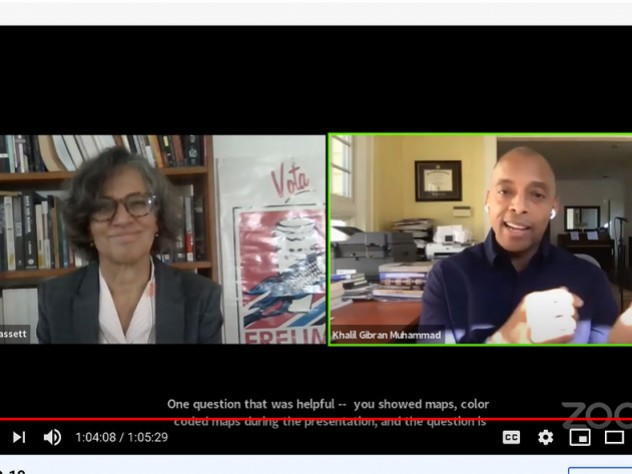 Screen shot of Mary T. Bassett and Khalil Gibran Muhammad
