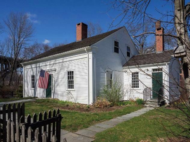 The modest white-clapboard Captain Wilbur Kelly House Transportation Museum