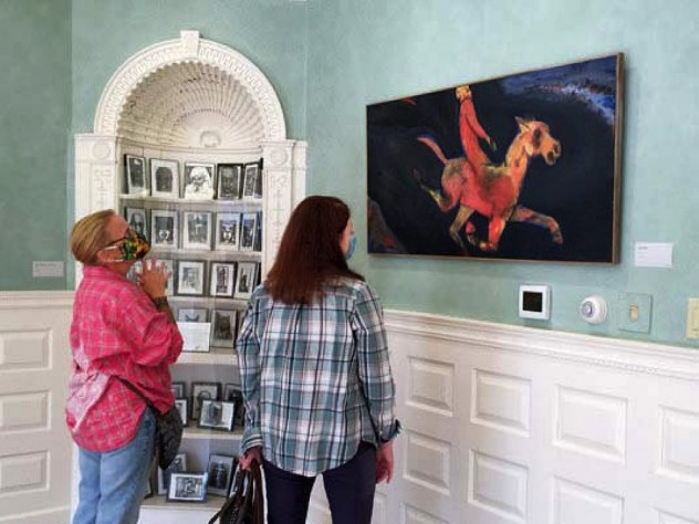 The mansion offers airy galleries for year-round exhibits