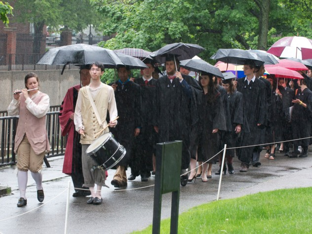 Enter the Phi Beta Kappa students, wetly.