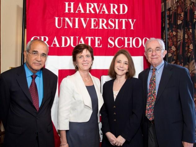 From Left: Arnold Rampersad, Louise Richardson, Sherry Turkle, and Everett Mendelsohn