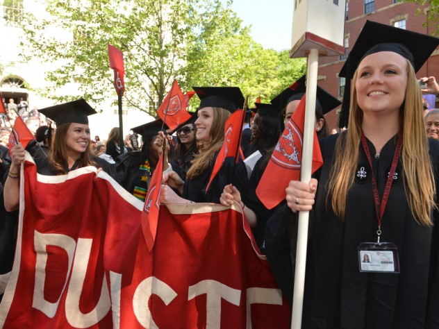 Dunster House undergraduates in the morning procession