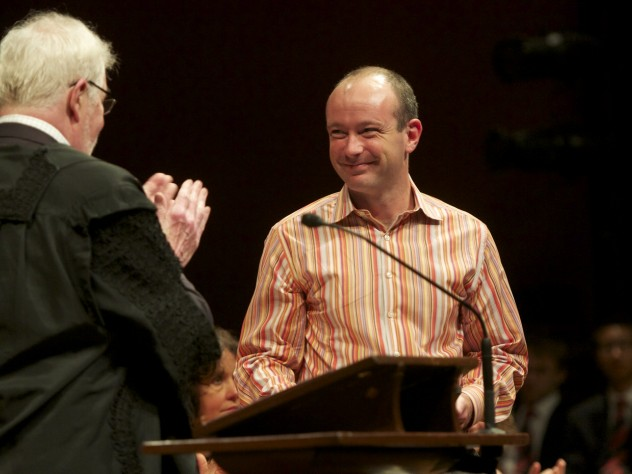 Eddie Kohler receives a Phi Beta Kappa Teaching Prize.