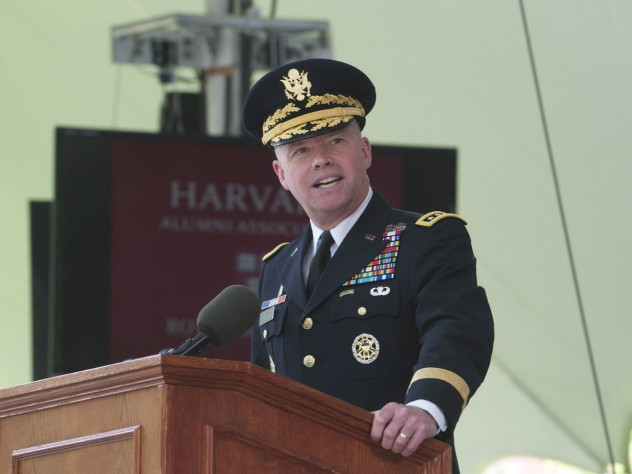 General David G. Perkins urged the new officers to learn from those they are leading.