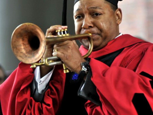 Wynton Marsalis jazzes up the morning ceremony.