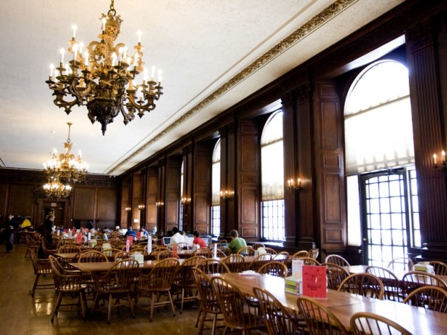 """Dining halls (such as Eliot's) are """"the hub of House life,"""" says a report on the residences, and every House should have its own."""