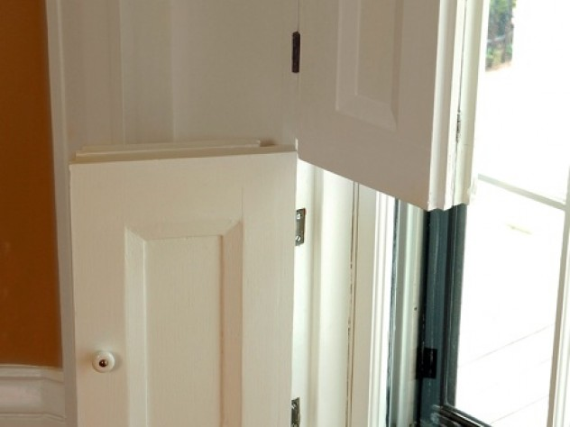 Indoor shutters lend period character to a home.
