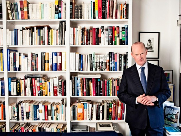 Wylie in his book-lined New York office