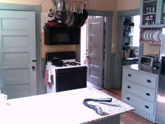 The kitchen before restoration