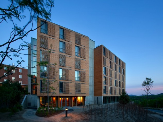 New Kripalu tower residence stands tall against the night sky