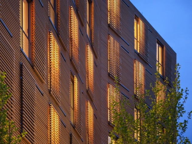 New Kripalu residential tower fairly glows at night