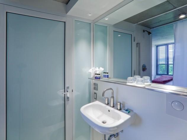 New private bathroom at Kripalu