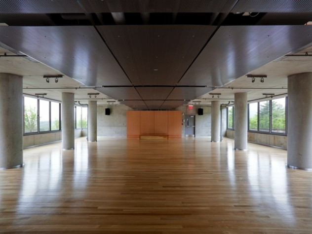 Polished yoga space at new Kripalu residential tower