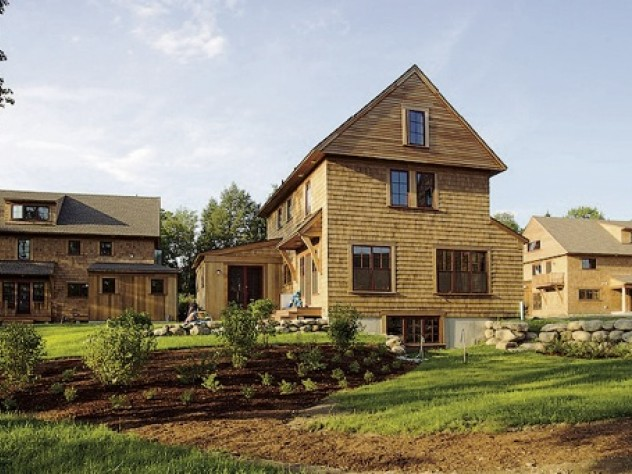 The homes offer views of rural vistas from every room.