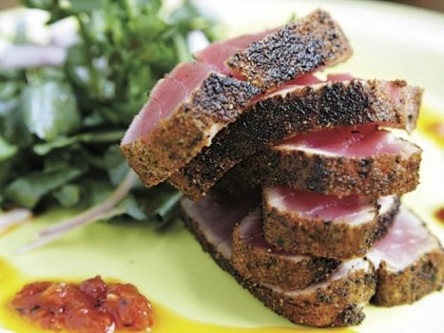 Orinoco's pleasures include tuna carpaccio.