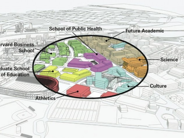 A hallmark of the new campus will be mixed, interdisciplinary uses, including professional schools, museums, research facilities for science, and performance space.