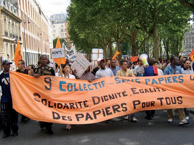 Migrant-rights protest, Paris, July 2007