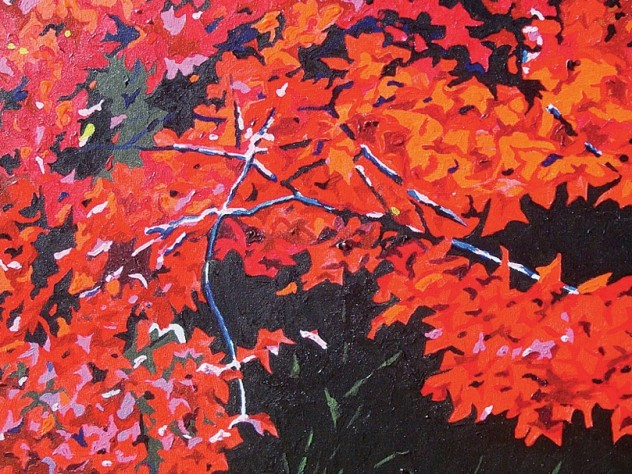 A painting by Ricardo Maldonado from <i>All Around Us,</i> at the Arnold Arboretum