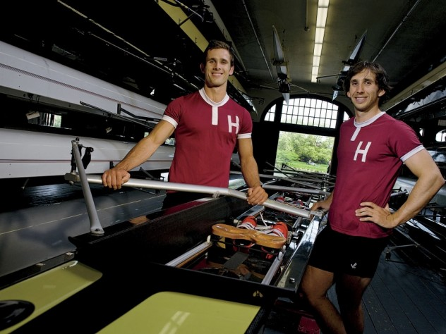 New Zealander brothers James (left) and Sam O'Connor in Newell Boathouse