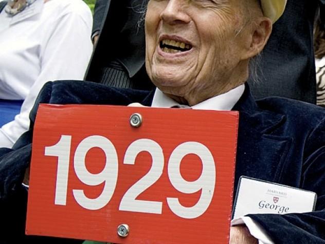 George Barner '29, the oldest class representative