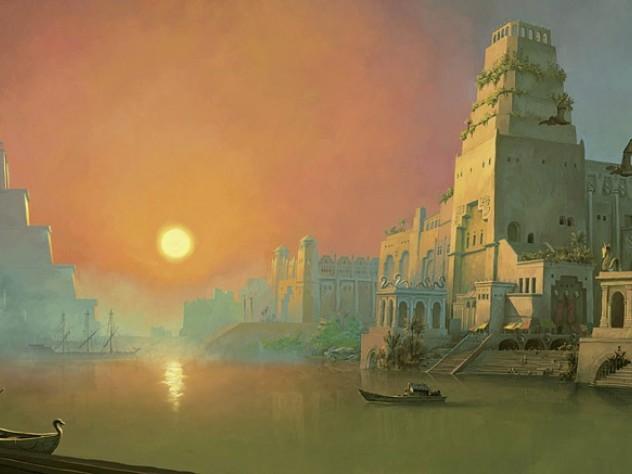 Duquette's digital painting <i>Vilqa, the Garden City</i>