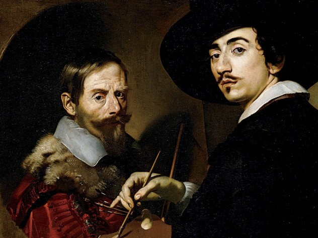 <i>Self-Portrait with an Easel </i>by Nicolas Régnier, featured in a gallery talk at the Harvard Art Museums