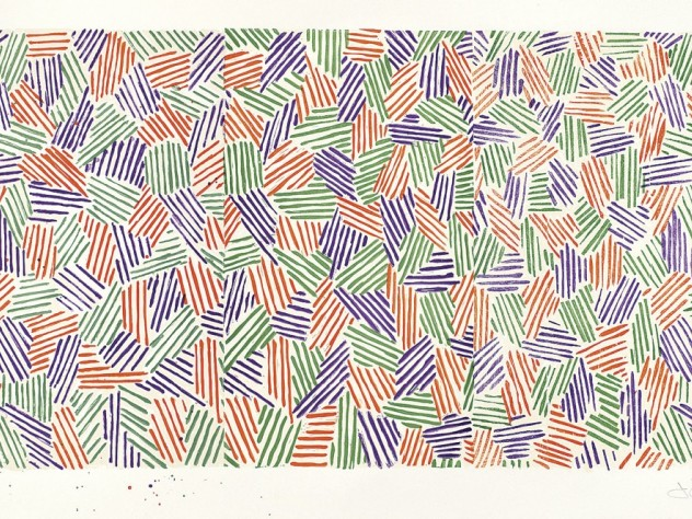 <i>Scent,</i> by Jasper Johns, from <i>Jasper Johns / In Press: The Crosshatch Works and the Logic of Print</i> at the Harvard Art Museums