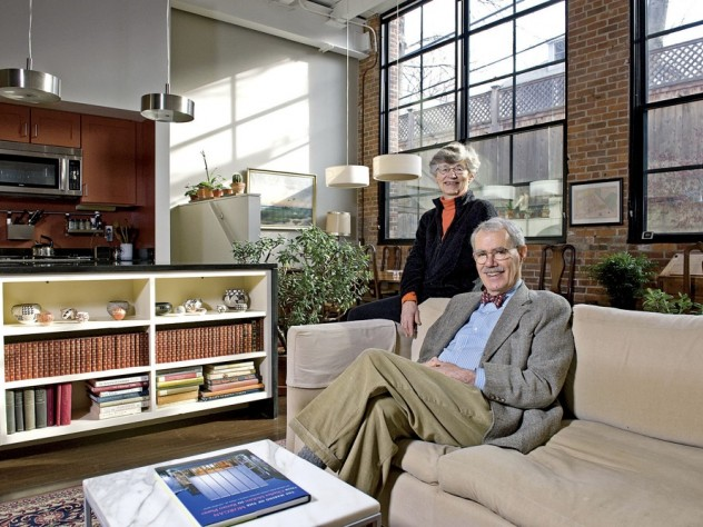 Priscilla and Brett Donham live happily in a smaller, leaner domicile.