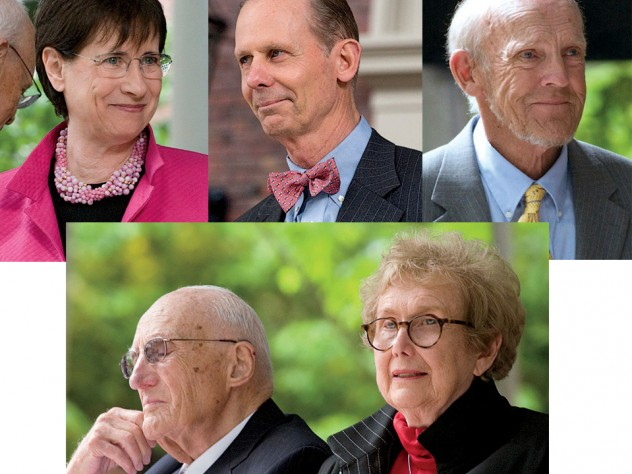 Clockwise from top left: Susan S. Wallach, Charles W. Collier, Harry L. Parker, Ellen R. Gordon and Melvin J. Gordon