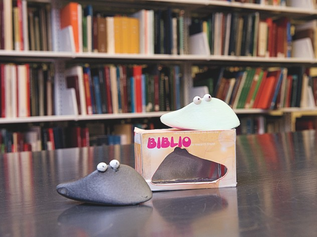 Biblio, a handheld book scanner, helps users track, share, and expand their research.