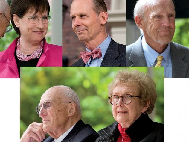 Clockwise from top left: Susan S. Wallach, Charles W. Collier, Harry L. Parker, Ellen R. Gordon and Melvin J. Gordon