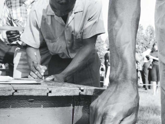 African Americans vote in Alabama in 1966, in the wake of the Voting Rights Act.