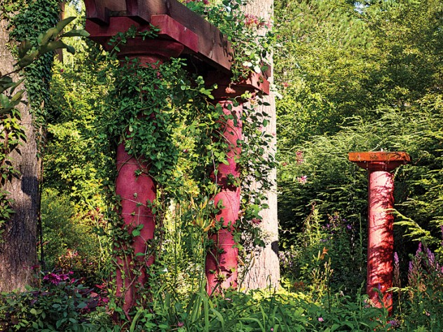 The vine-covered folly