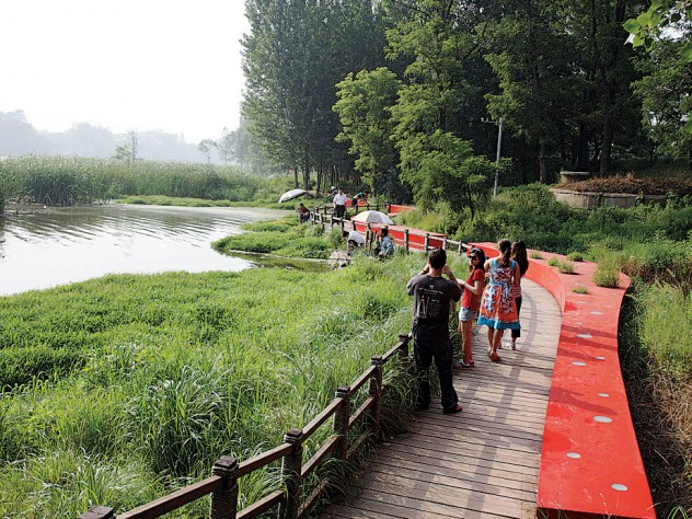 Red Ribbon Park, along the naturally verdant Tanghe River in Qinhuangdao, Hebei Province, China, 2007