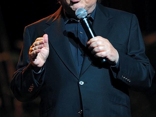 comedian Jackie Mason at the Frank Sinatra Theatre, Sunrise, Florida, in January 2008