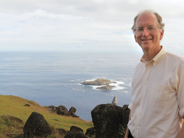 Andy Sharpless on Easter Island. He predicts that proposed restrictions on fishing will help regenerate marine life in the surrounding waters within a decade.
