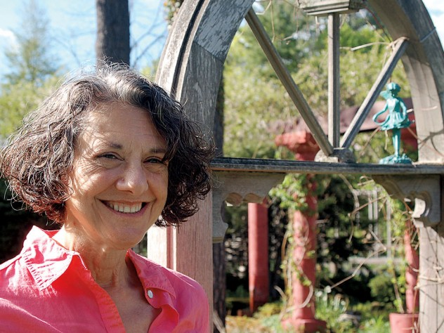 Ilona Bell at her outdoor window
