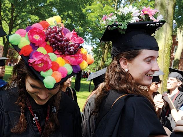 Seniors Charlotte Annie Lieberman and Zoe Tucker stood out among their more sedate fellows.