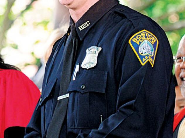 "Fortitude: Officer Stephen McNulty sings ""The Star-Spangled Banner."""