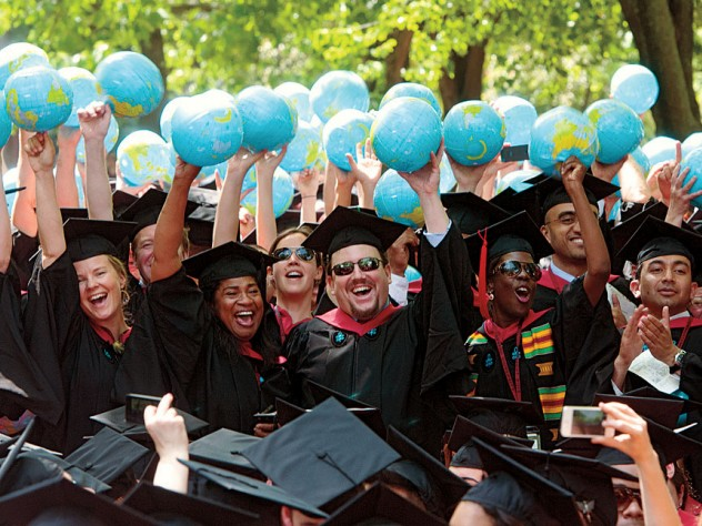 As in years past, degree candidates from Harvard Kennedy School celebrated their global ambitions.
