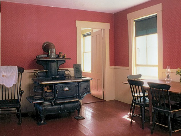 The kitchen at the Robert Frost Farm in Derry, New Hampshire